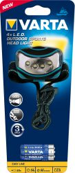 VARTA 16630 4xLED Outdoor Sports Head Light 3xAAA